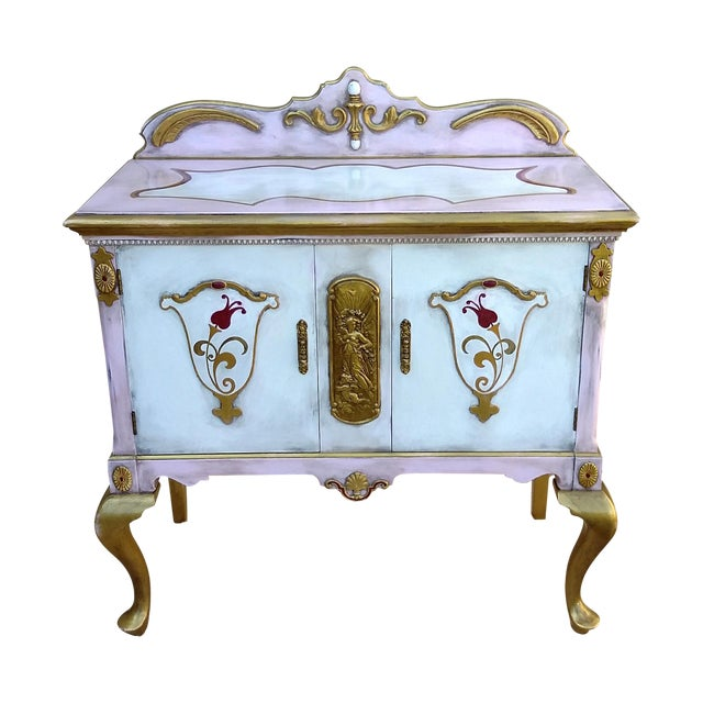 Custom Hand Painted Queen Anne Style Server - Image 1 of 9