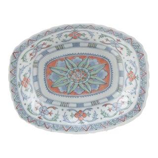 Decorative Blue & Orange Pottery Platter