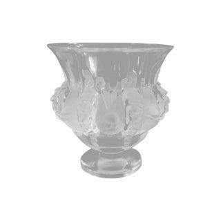"""Lalique Crystal """"Dampierre"""" Vase"""