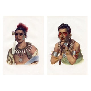 White Cloud of the Iowa Tribe Portraits - A Pair