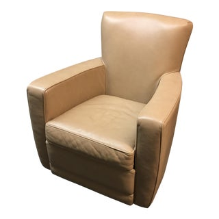American Leather Evan Swivel Chair