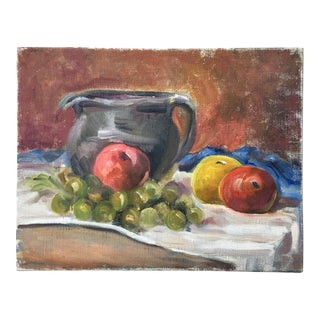 Vintage Painting of Three Apples