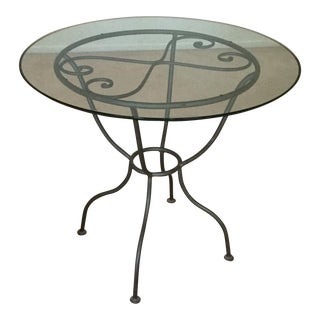 Drexel French Countryside Glass Top Round Table