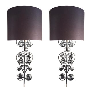 Handwrought Iron Sconces - A Pair