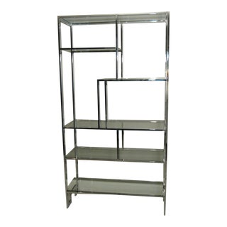 Milo Baughman Attributed DIA Chrome & Glass Etagere