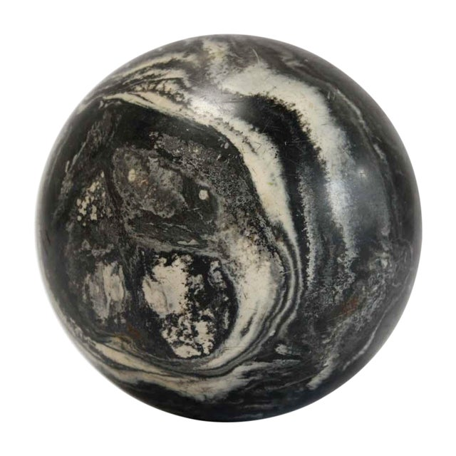 Black Marbleized Bocce Ball - Image 1 of 5