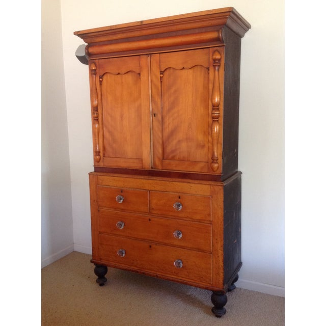 Antique American Pine Armoire - Image 2 of 11