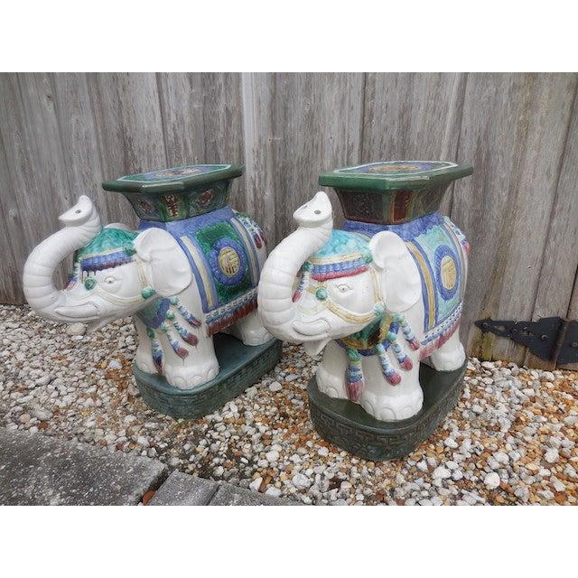 Vintage Elephant Garden Stool - Pair - Image 2 of 7