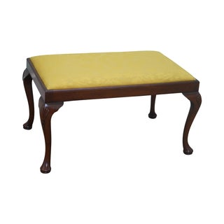 18th Century Style English Queen Anne Bench