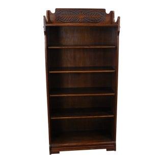 Antique 1920's Art-Nouveau Oak Bookcase