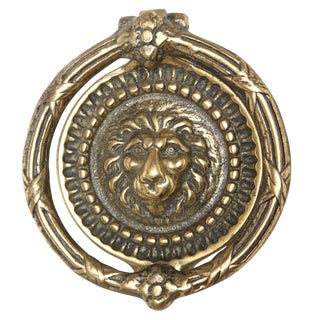 Circular Lion Head Door Knocker