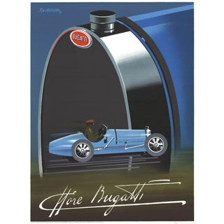 Pierre Fix Masseau Bugatti 1989 Lithograph