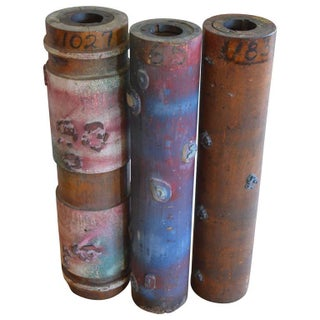 Antique Wallpaper Printing Rollers - Set of 3