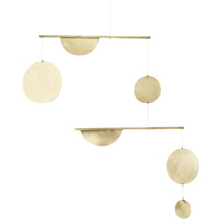 Brass 2-Tiered Geometric Mobile