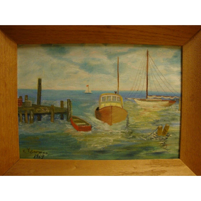 Image of Seascape, 1969 Signed Acrylic on Canvas Board