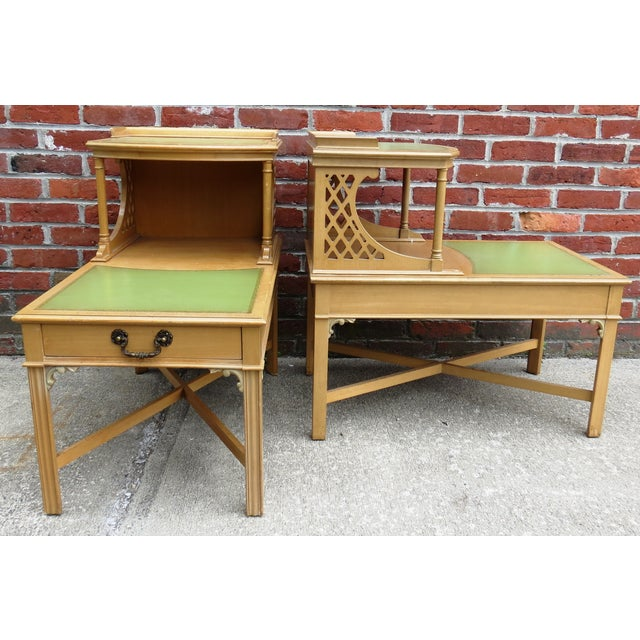 Vintage 1939 Imperial Mahogany End Tables - Pair - Image 2 of 9