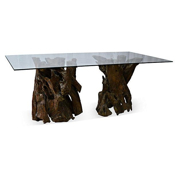 Dark Teak Coffee Table: Teak Root Cocktail Table