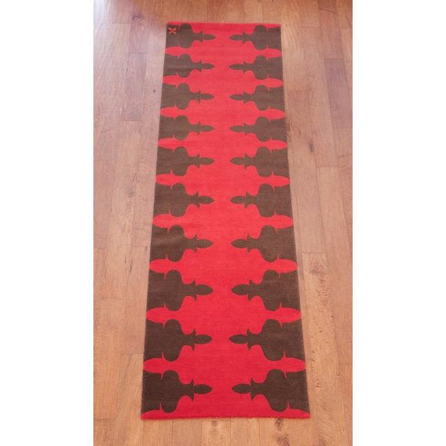 Madeline Weinrib Red Carlotta Wool Rug - 2′6″ × 9′ - Image 2 of 6