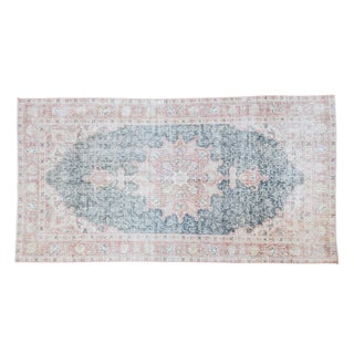 "Distressed Oushak Rug - 3'8"" X 7'1"""