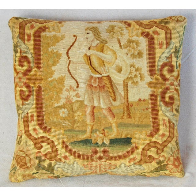Antique French Needlepoint Pillow - Image 9 of 11