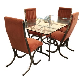 Mid-Century Milo Baughman Attributed Dining Set