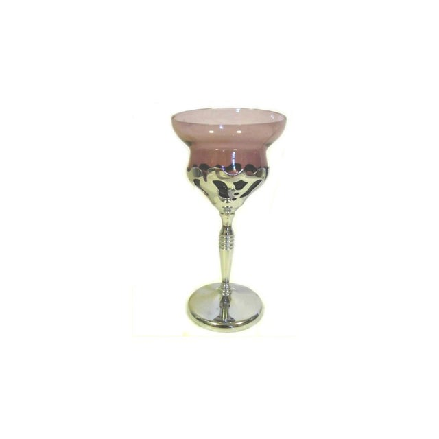 Image of Chrome And Glass Cocktail Glass
