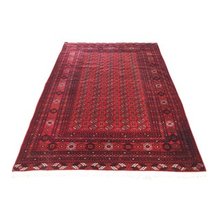 Hand Woven Wool Rug From India - 6′8″ × 9′10″