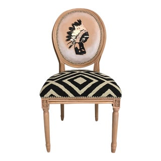 Boho LouisXVI Accent Chair