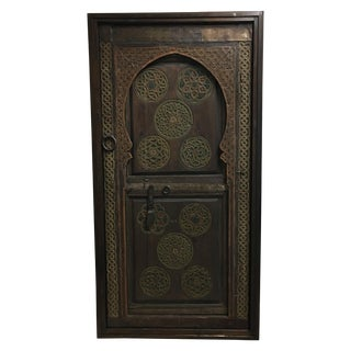 Hand Carved Moroccan Door