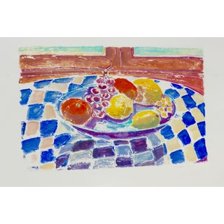 French Fruit Bowl Still Life Painting