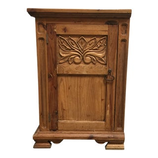 Rustic Pine Wood Side Cabinet