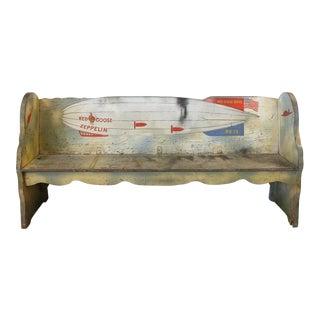 1920s Folk Art Zeppelin Bench