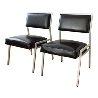 Steelcase Mid Century Black Office Chairs - a Pair