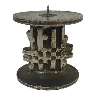 Brutalist Spode Steel Candle Holder by Olaf Joff