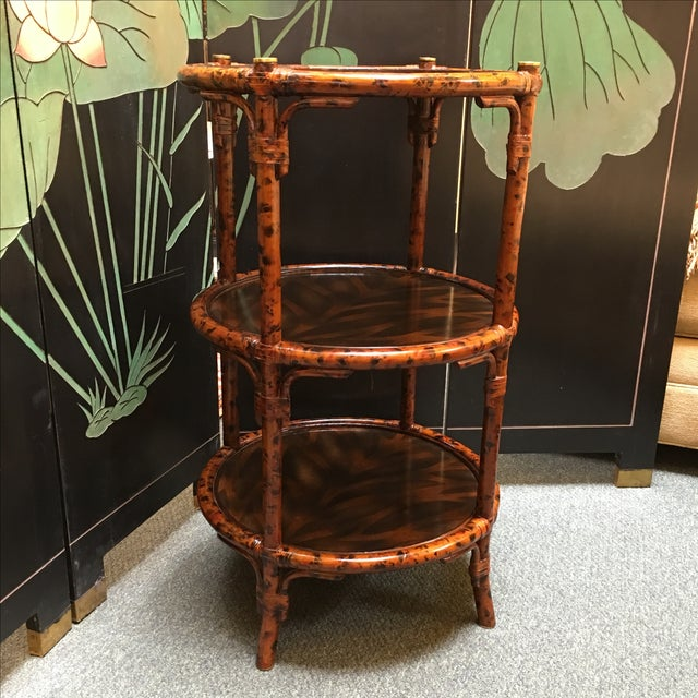 Three-Tiered Bamboo Accessory Table - Image 2 of 7