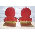 Image of Vintage High Style Plaster Shell Bookends