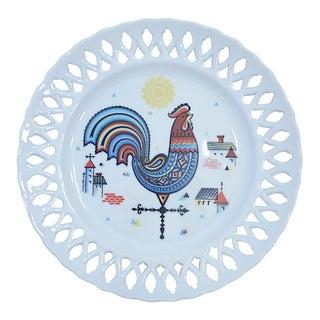 Berggren Mid-Century Rooster Plate