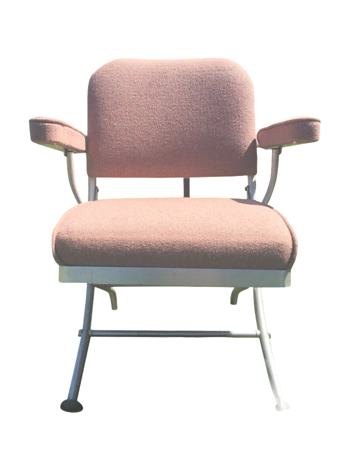 Warren McArthur Pink Upholstered Folding Chair