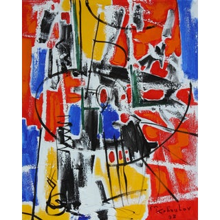 Abstract Expressionist Painting by Murat Kaboulov