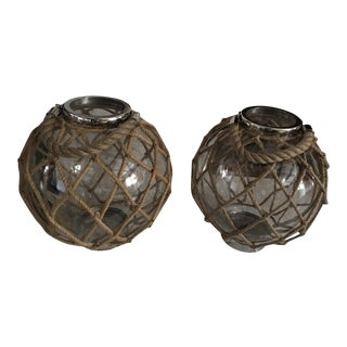 Round Rope & Stainless Steal Hurricanes - A Pair