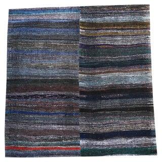 Vintage Turkish Multi-Color Handmade Flatweave Rug - 8′6″ × 8′10″