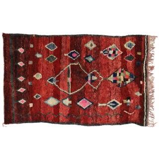 Boho Chic Berber Moroccan Rug, 5'1x8'