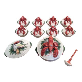 Fitz & Floyd Lobster Soup Bowls- Set of 11