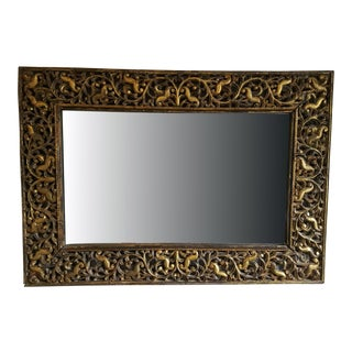 1940's Vintage Gold Leaf Mirror