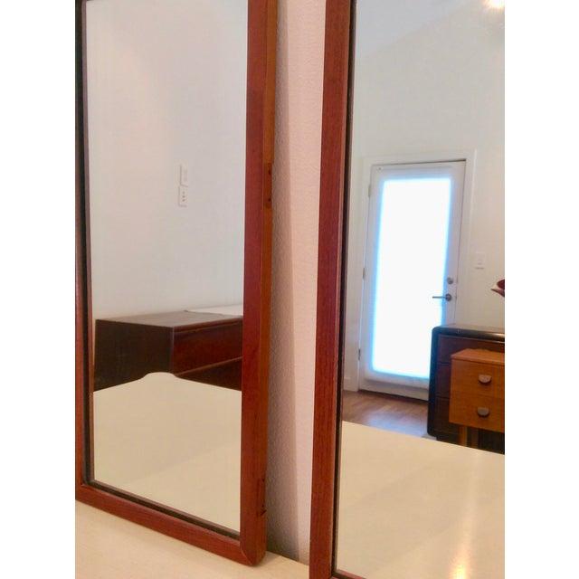 Narrow Danish Modern Teak Mirrors, a Pair - Image 6 of 8