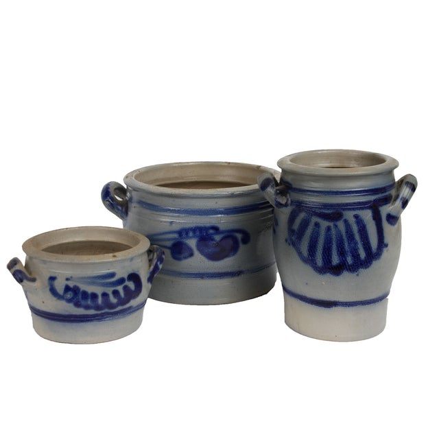 Image of Danish Salt Glaze Pottery - Set of 3