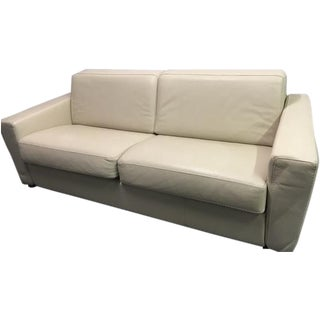 Capri Italian Leather Sleeper Sofa