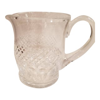 Signed Waterford Cut Crystal Bar Pitcher