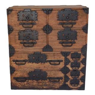 1850s Antique Rare Japanese Tansu With Amazing Hardware