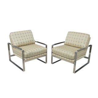 Vintage Milo Baughman for Thayer Coggin Style Lounge Chairs - A Pair